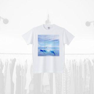 Tシャツデザイン − イルカデザイン