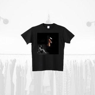 Tシャツデザイン − 天使と女性