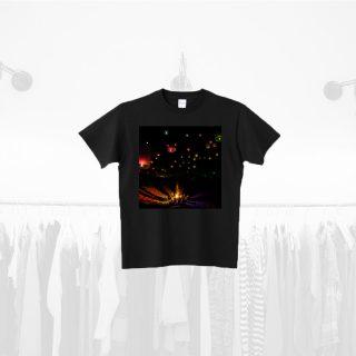Tシャツデザイン − キャンプファイヤー