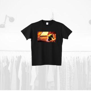 Tシャツデザイン − スノーボードで波に乗る