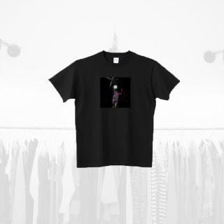 Tシャツデザイン − タバコの煙と満月とバスケ